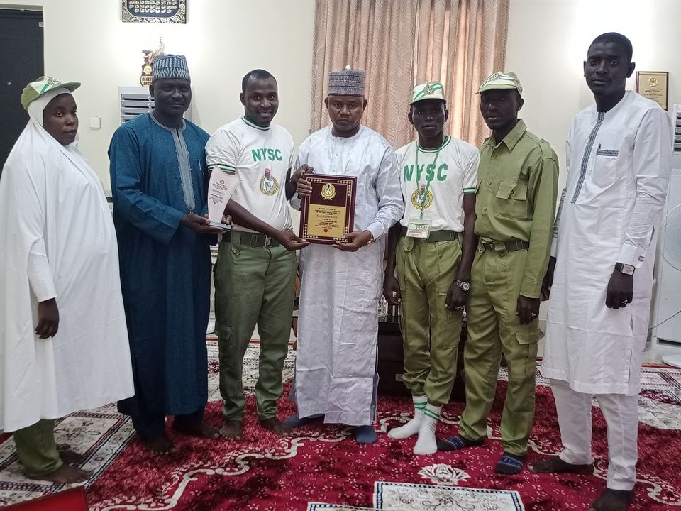 Engr Gubio Received Award of Excellence by NYSC Batch 2019/2020