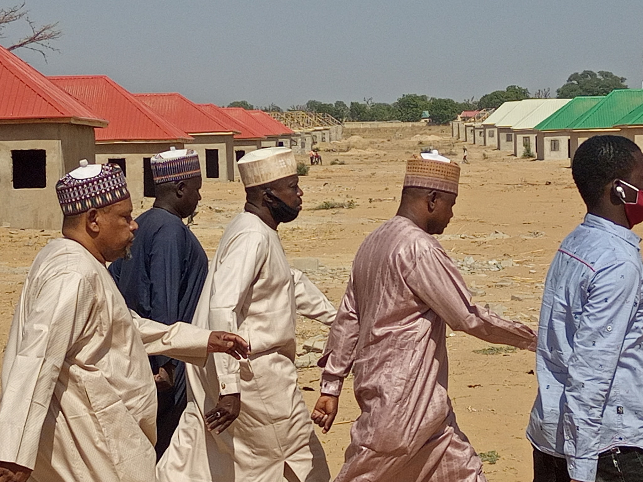 Engr. Gubio inspects Housing Project at Dalori Community.